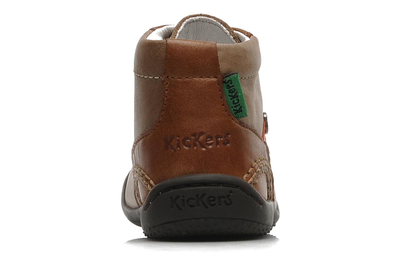 Bottines et boots Kickers GUGUS Beige vue droite