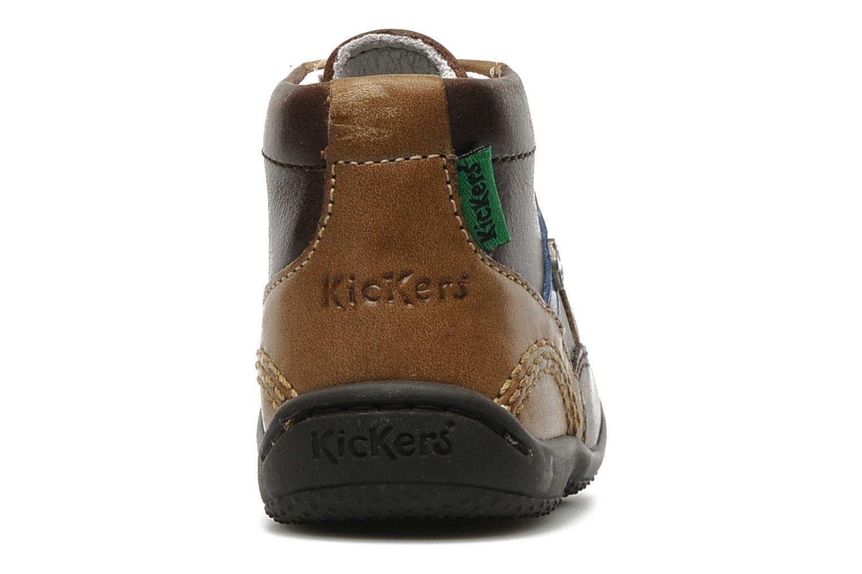 Bottines et boots Kickers GUGUS Marron vue droite