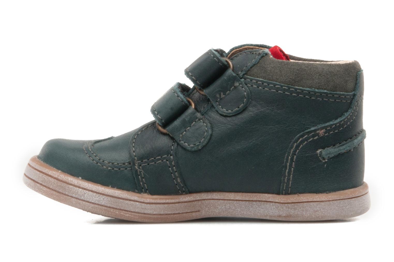 Schoenen met klitteband Kickers TRAPEZE Groen voorkant