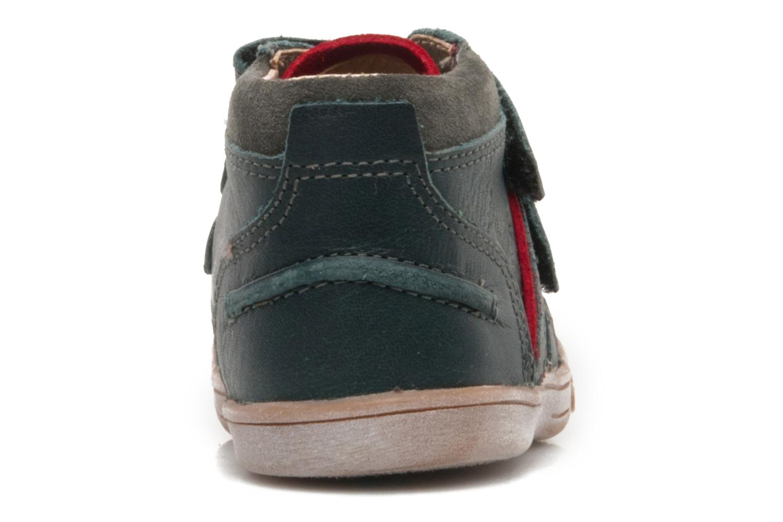 Chaussures à scratch Kickers TRAPEZE Vert vue droite