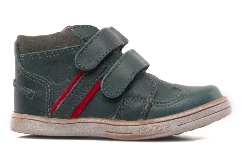 Schoenen met klitteband Kickers TRAPEZE Groen achterkant