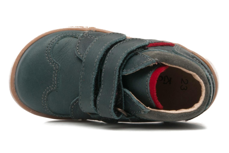 Chaussures à scratch Kickers TRAPEZE Vert vue gauche