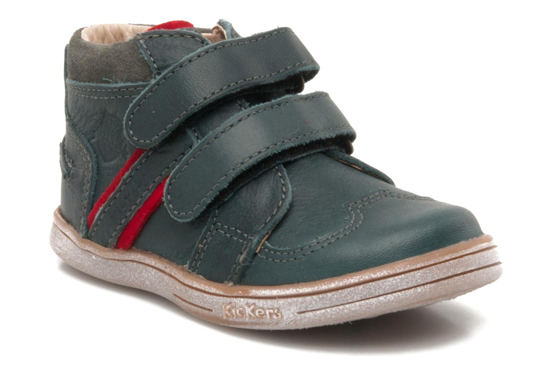 Schoenen met klitteband Kickers TRAPEZE Groen detail