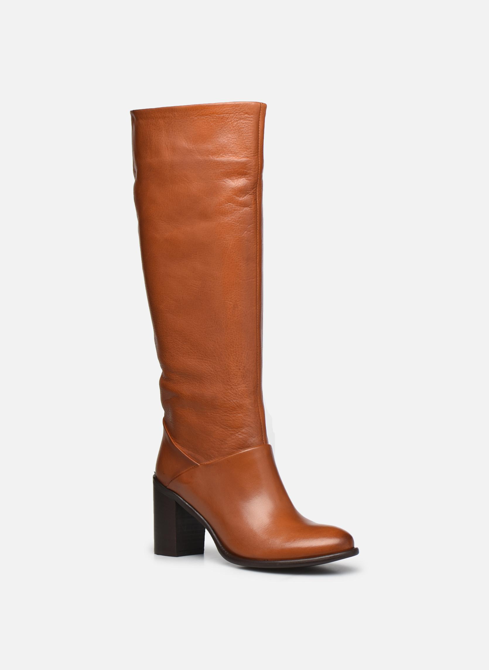 Boots & wellies Georgia Rose Lamia Brown detailed view/ Pair view