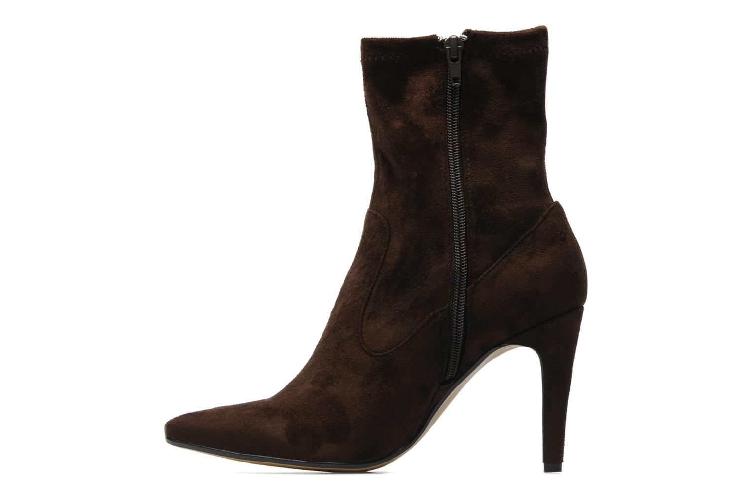 Ankle boots Georgia Rose Hulaia stretch Brown front view