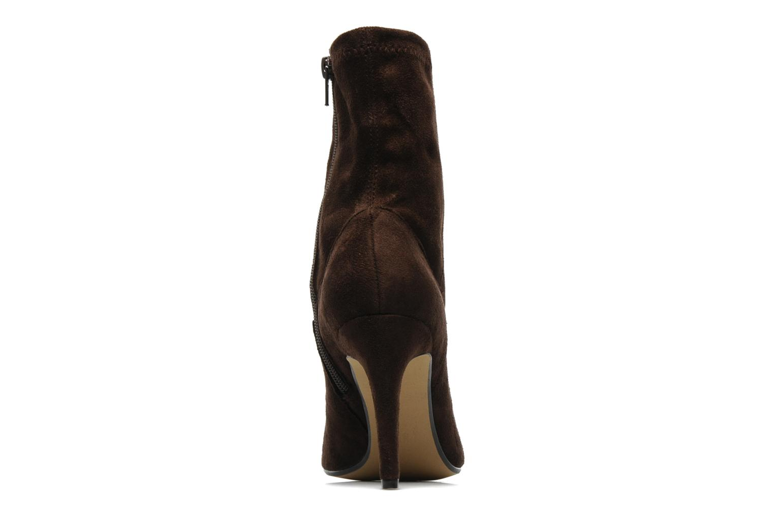Ankle boots Georgia Rose Hulaia stretch Brown view from the right
