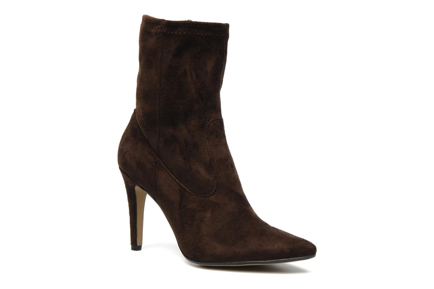 Ankle boots Georgia Rose Hulaia stretch Brown detailed view/ Pair view