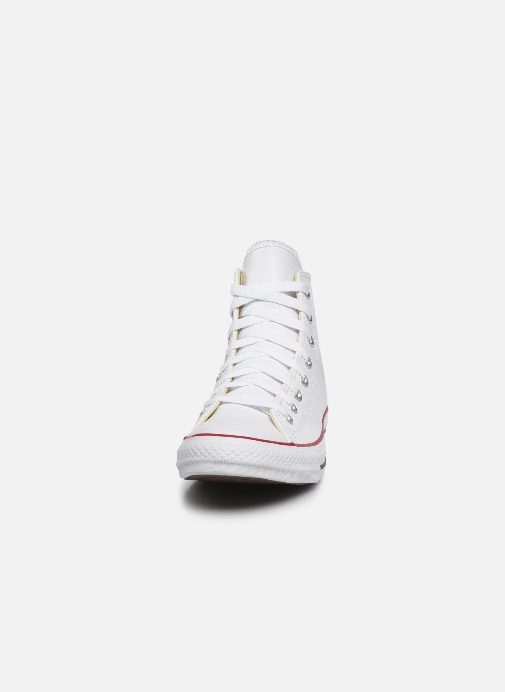 Sneaker Converse Chuck Taylor All Star Leather Hi M weiß schuhe getragen