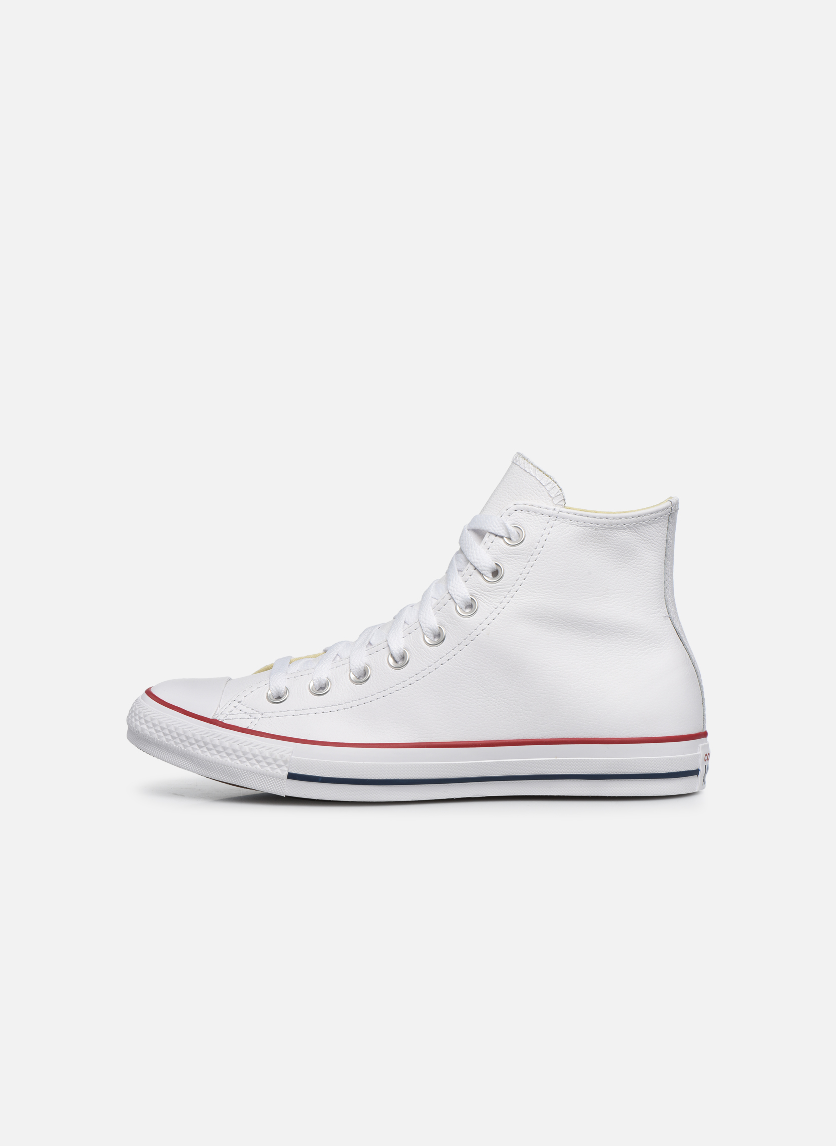 Sneakers Converse Chuck Taylor All Star Leather Hi M Bianco immagine frontale