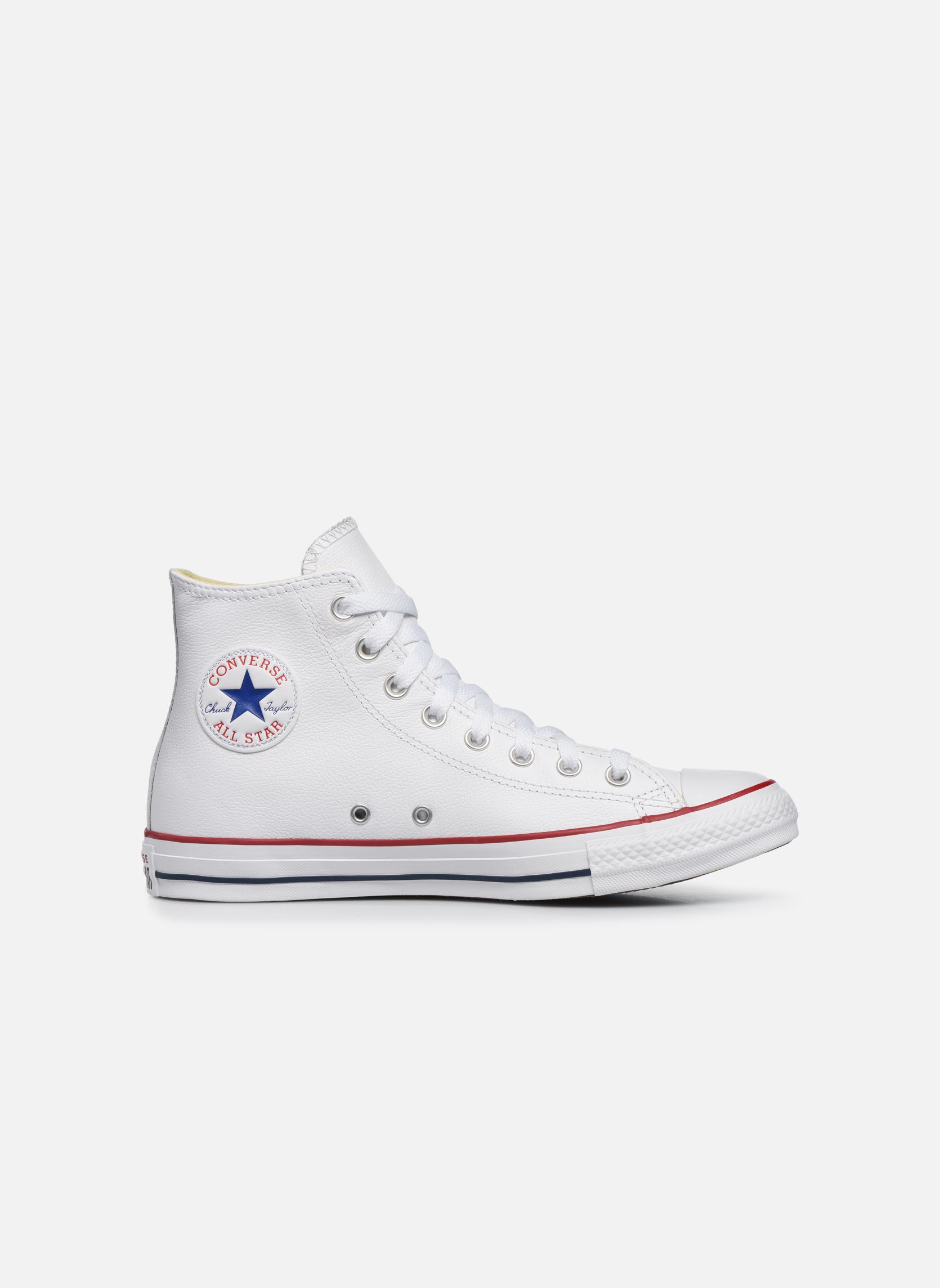 Sneakers Converse Chuck Taylor All Star Leather Hi M Vit bild från baksidan