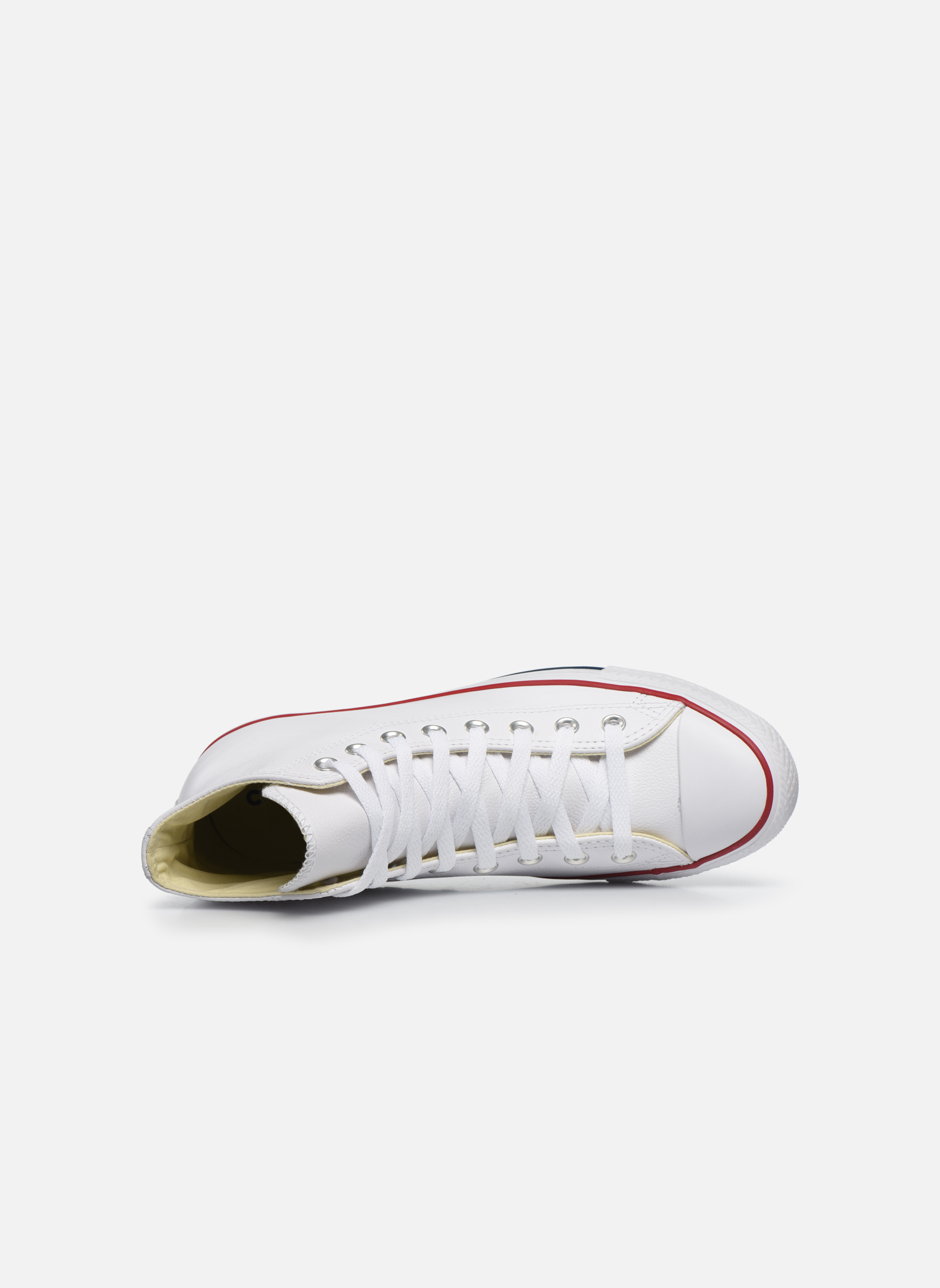 Sneakers Converse Chuck Taylor All Star Leather Hi M Bianco immagine sinistra