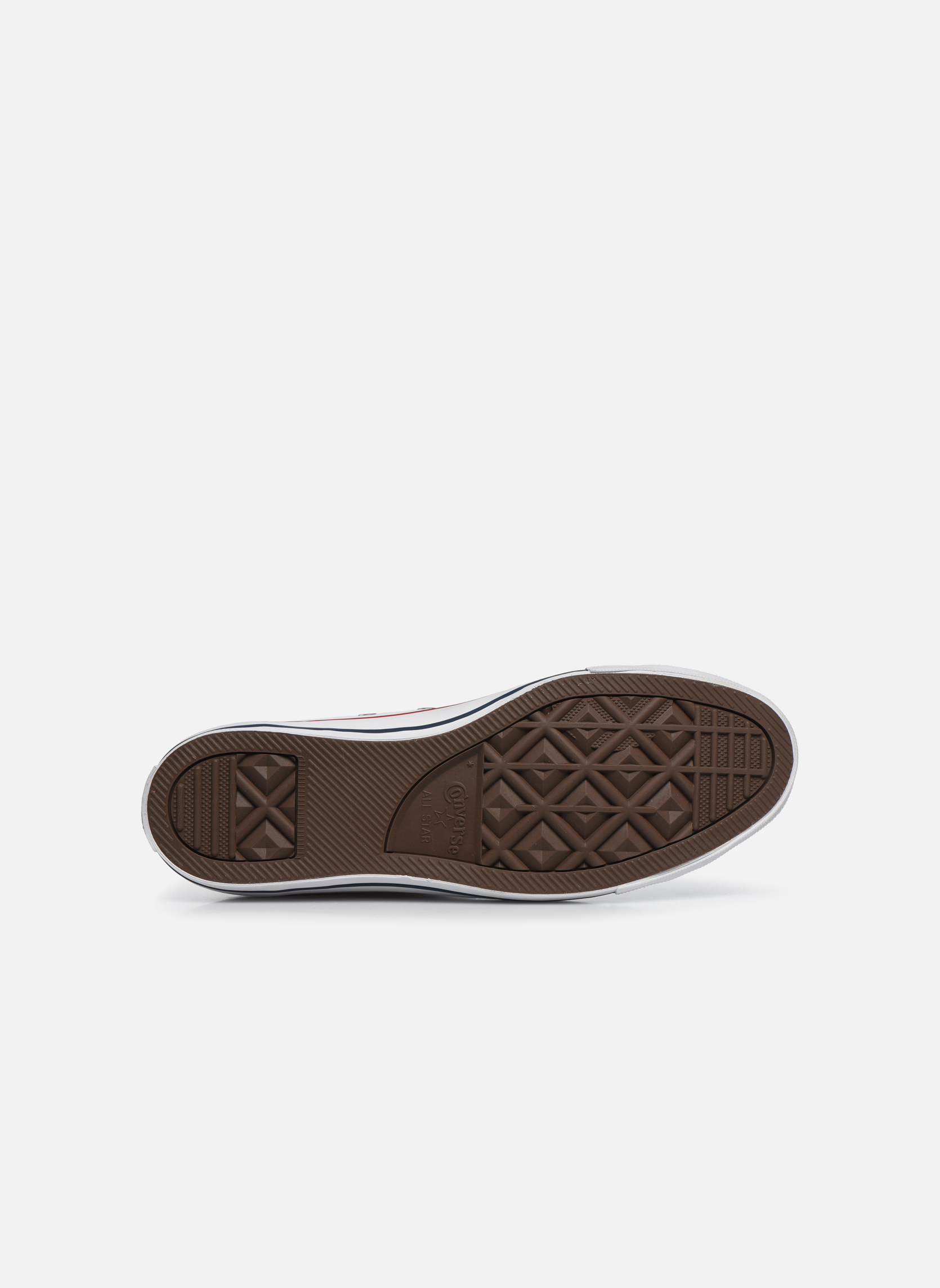 Sneakers Converse Chuck Taylor All Star Leather Hi M Bianco immagine dall'alto