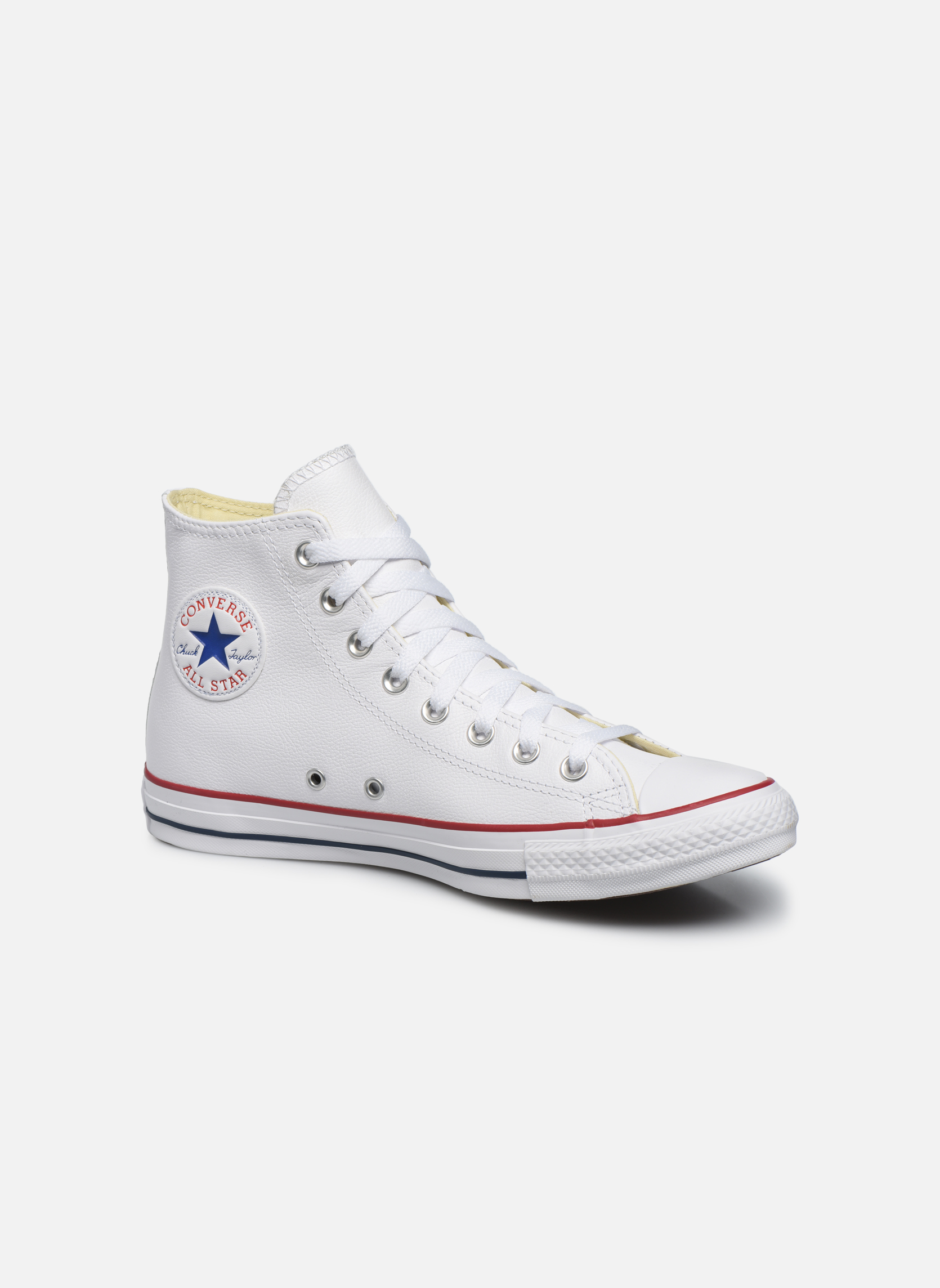 Sneakers Converse Chuck Taylor All Star Leather Hi M Vit detaljerad bild på paret