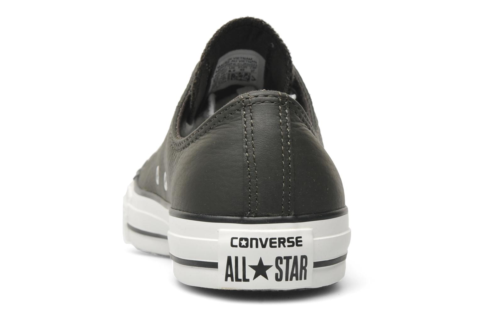 Trainers Converse Chuck Taylor All Star Leather Ox M Grey view from the right