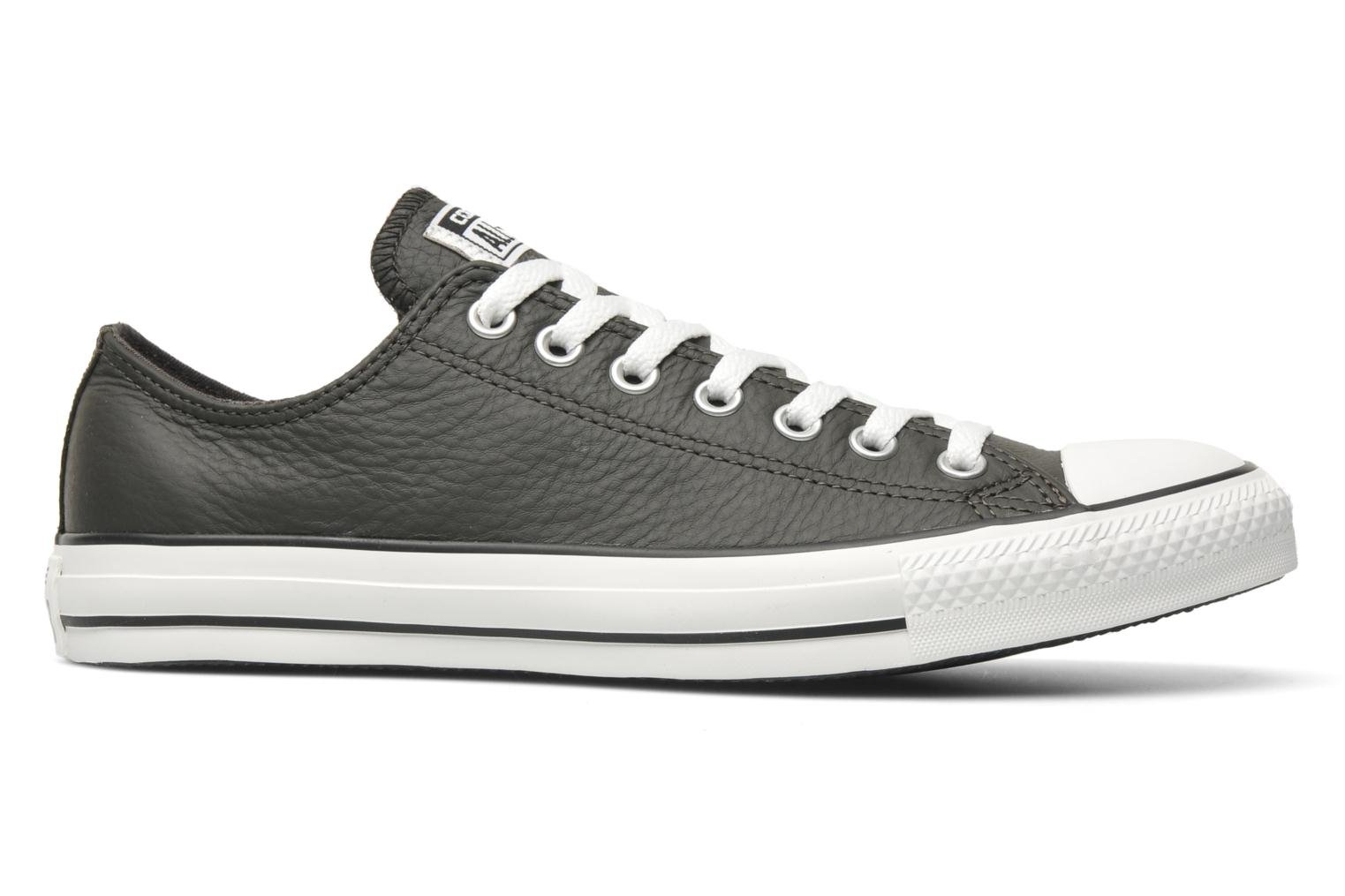 Trainers Converse Chuck Taylor All Star Leather Ox M Grey back view