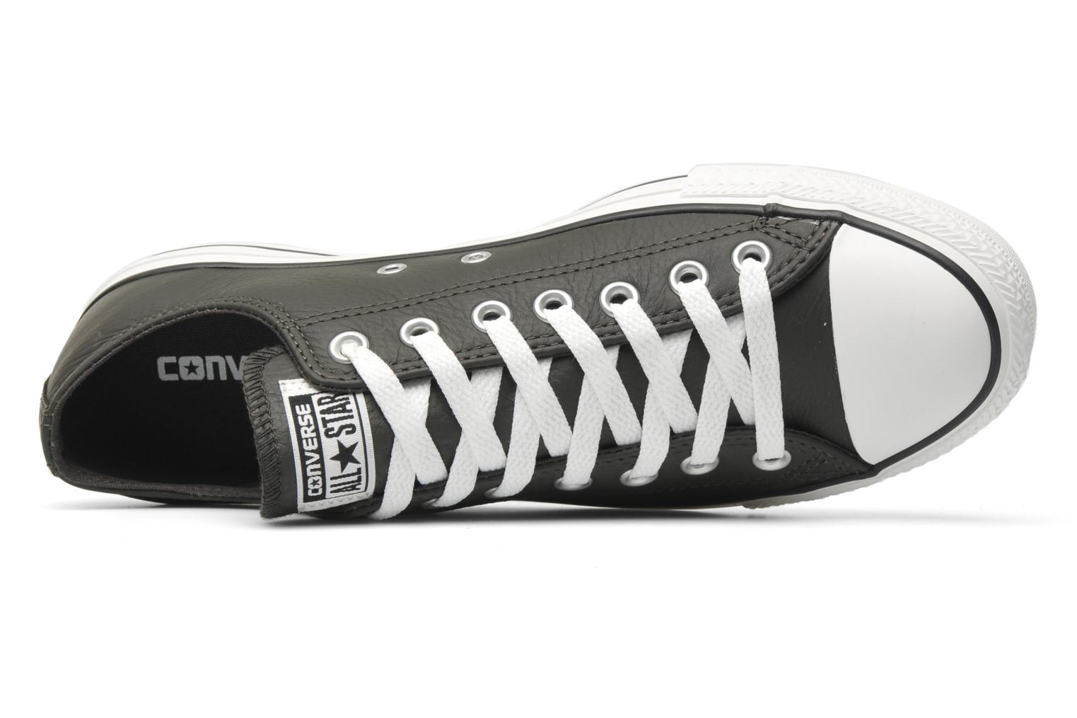 Trainers Converse Chuck Taylor All Star Leather Ox M Grey view from the left