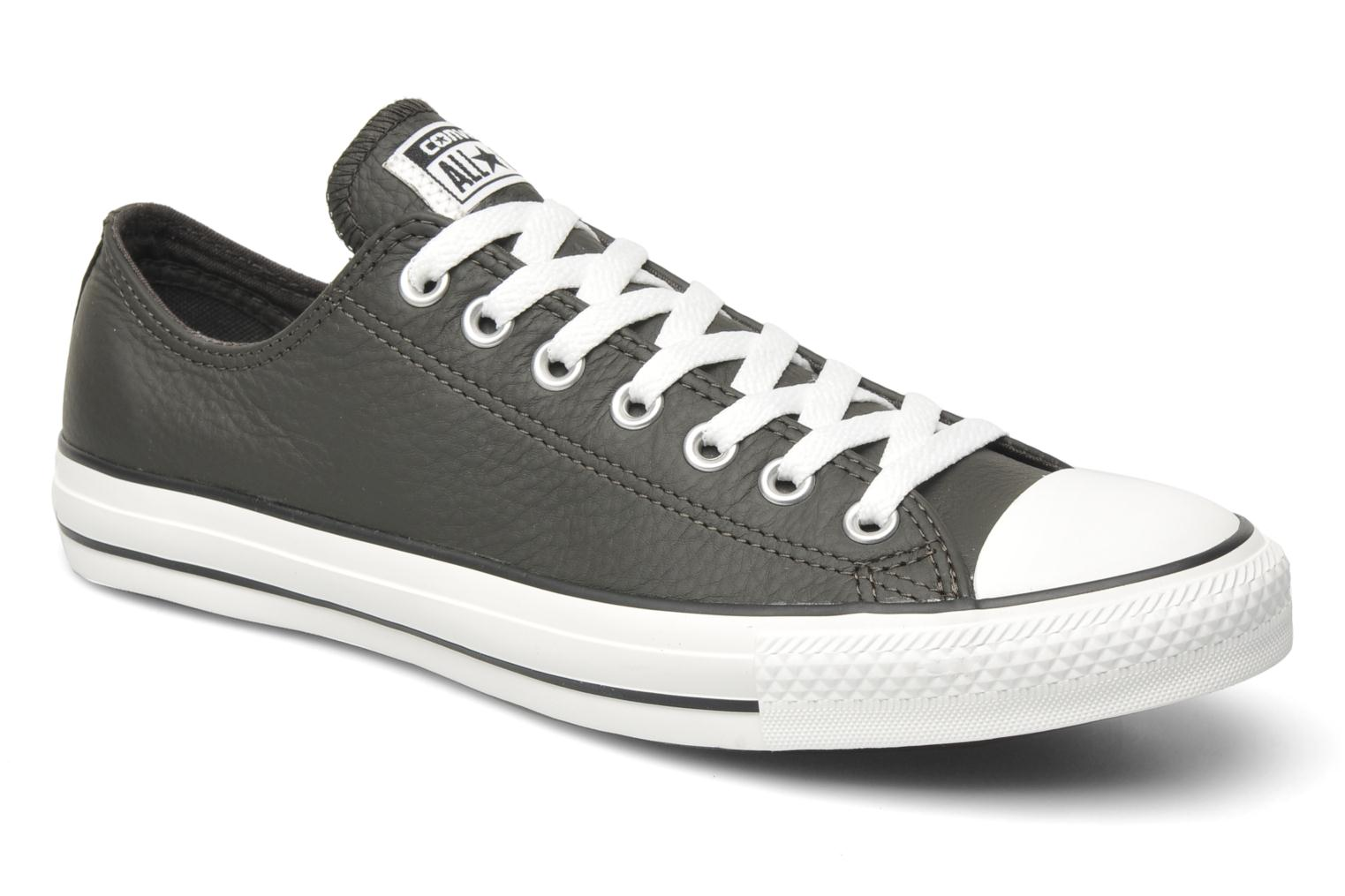 Trainers Converse Chuck Taylor All Star Leather Ox M Grey detailed view/ Pair view
