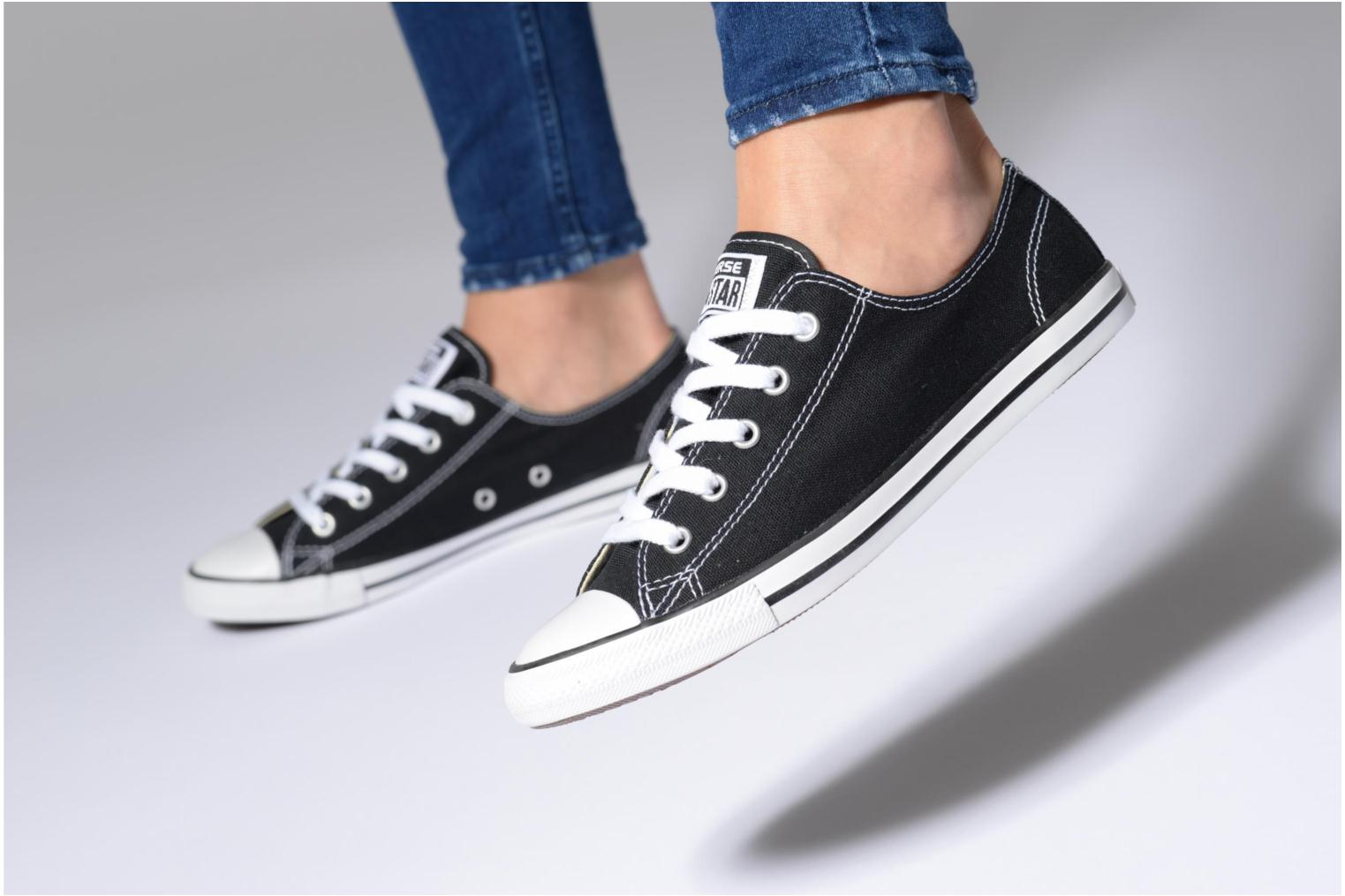 Trainers Converse All Star Dainty Canvas Ox Black view from underneath / model view