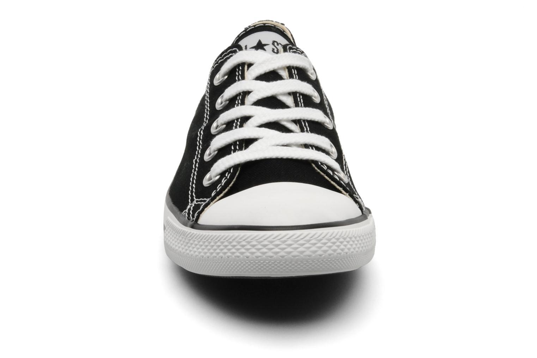 Baskets Converse All Star Dainty Canvas Ox Noir vue portées chaussures