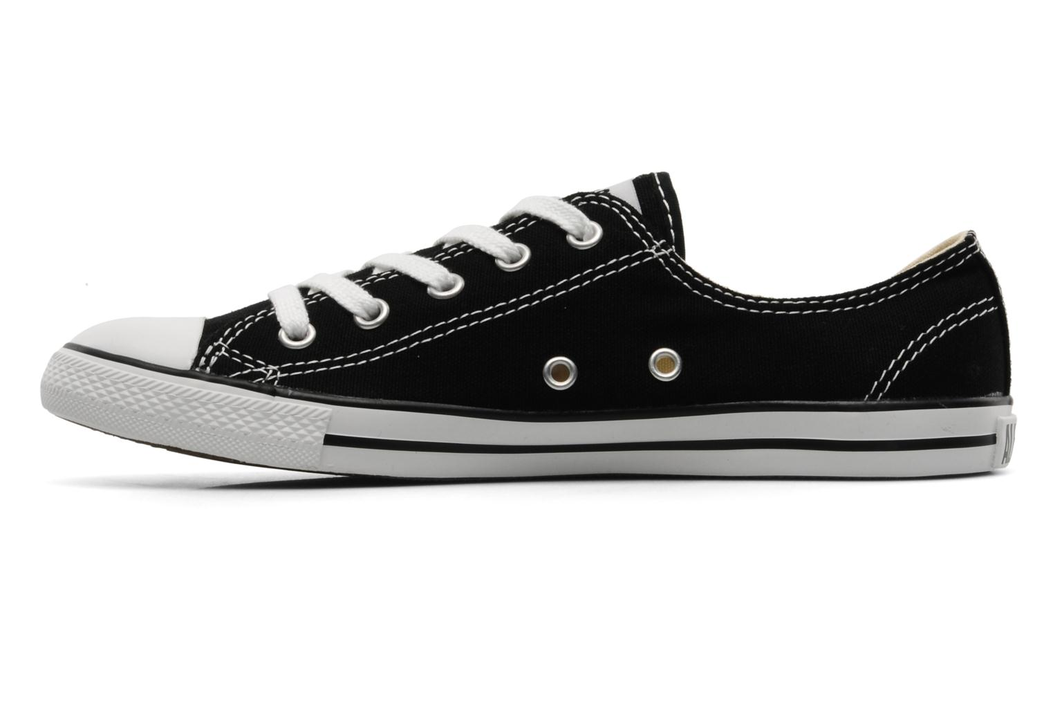 Trainers Converse All Star Dainty Canvas Ox Black front view