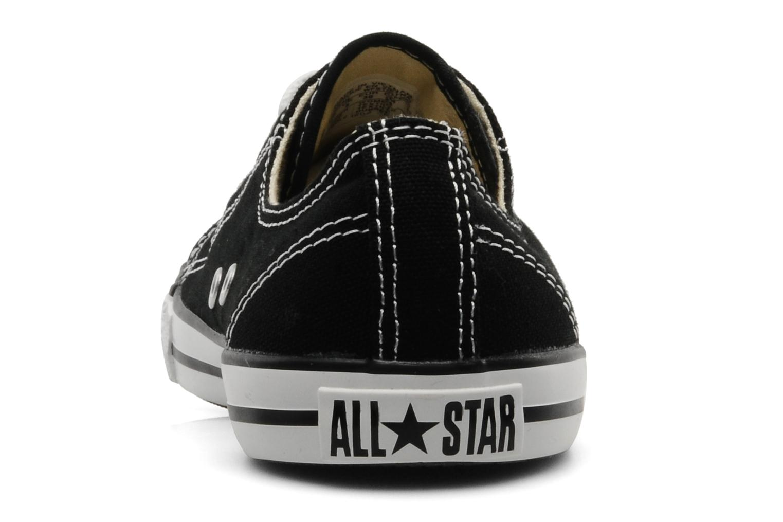Baskets Converse All Star Dainty Canvas Ox Noir vue droite