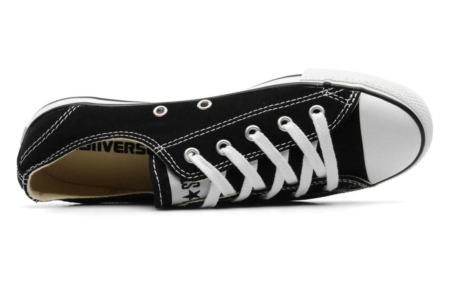 Trainers Converse All Star Dainty Canvas Ox Black view from the left