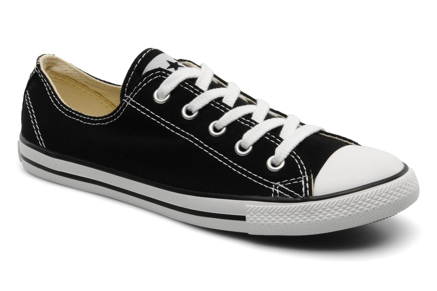Trainers Converse All Star Dainty Canvas Ox Black detailed view/ Pair view