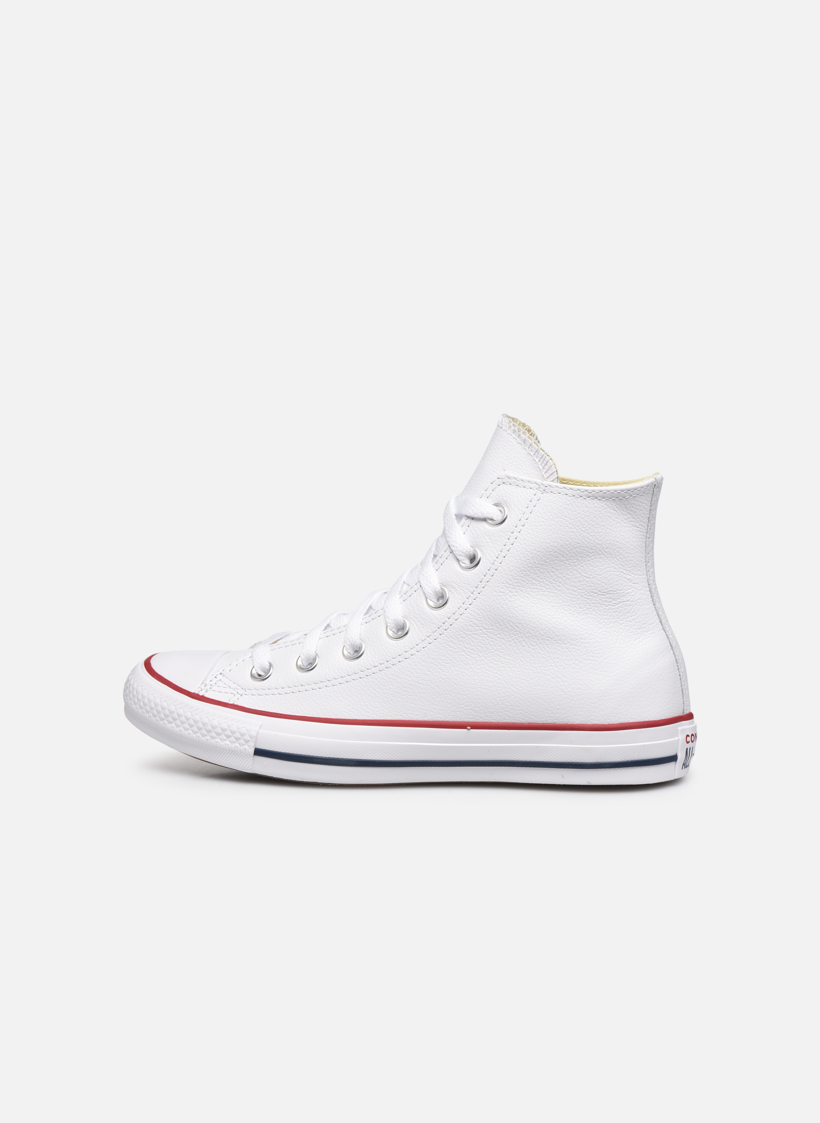 Chuck Taylor All Star Leather Hi W White