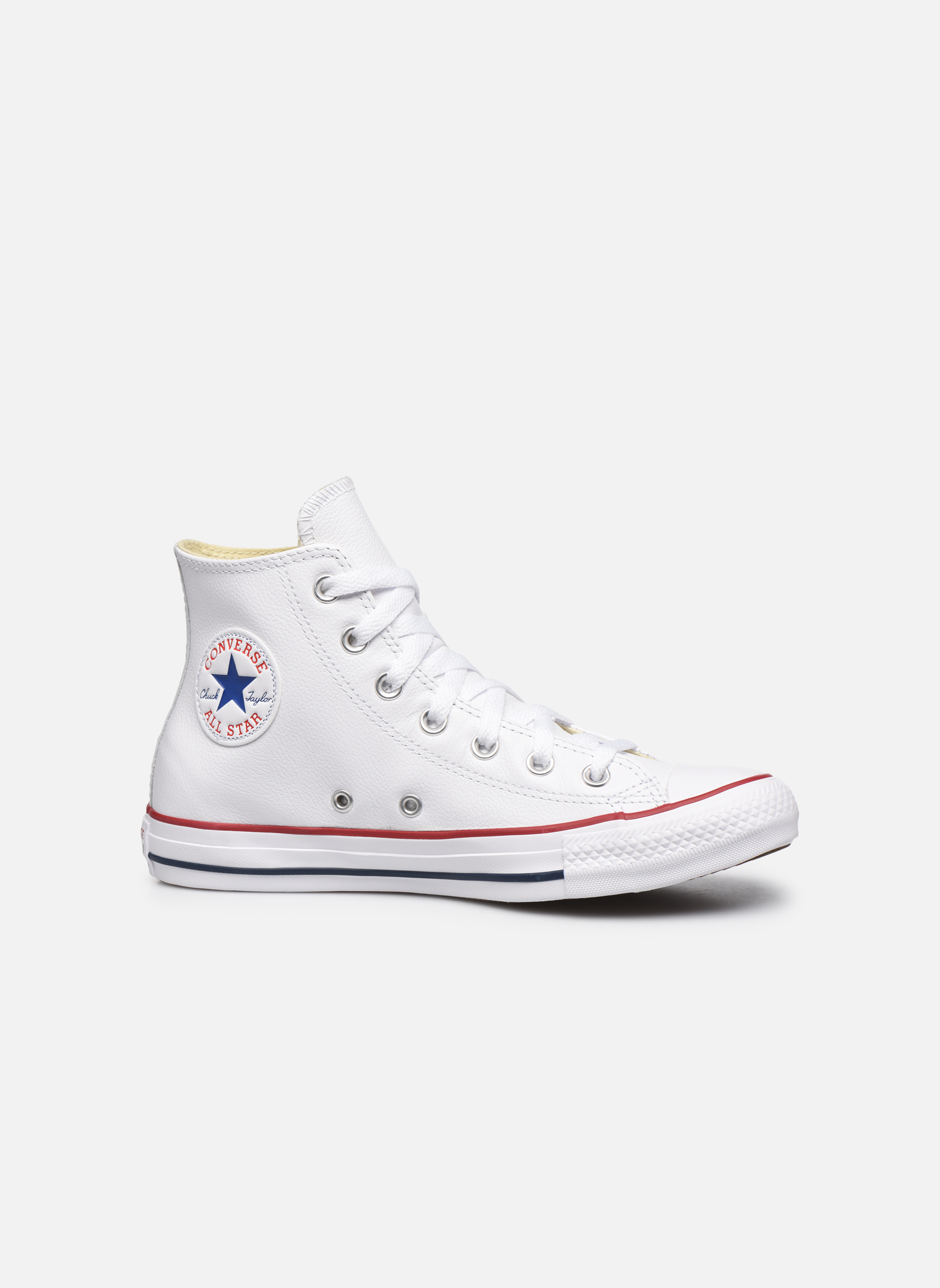 huge discount a959e ce6c9 ... White Converse Chuck Taylor All Star Leather Hi W (Blanc) ...