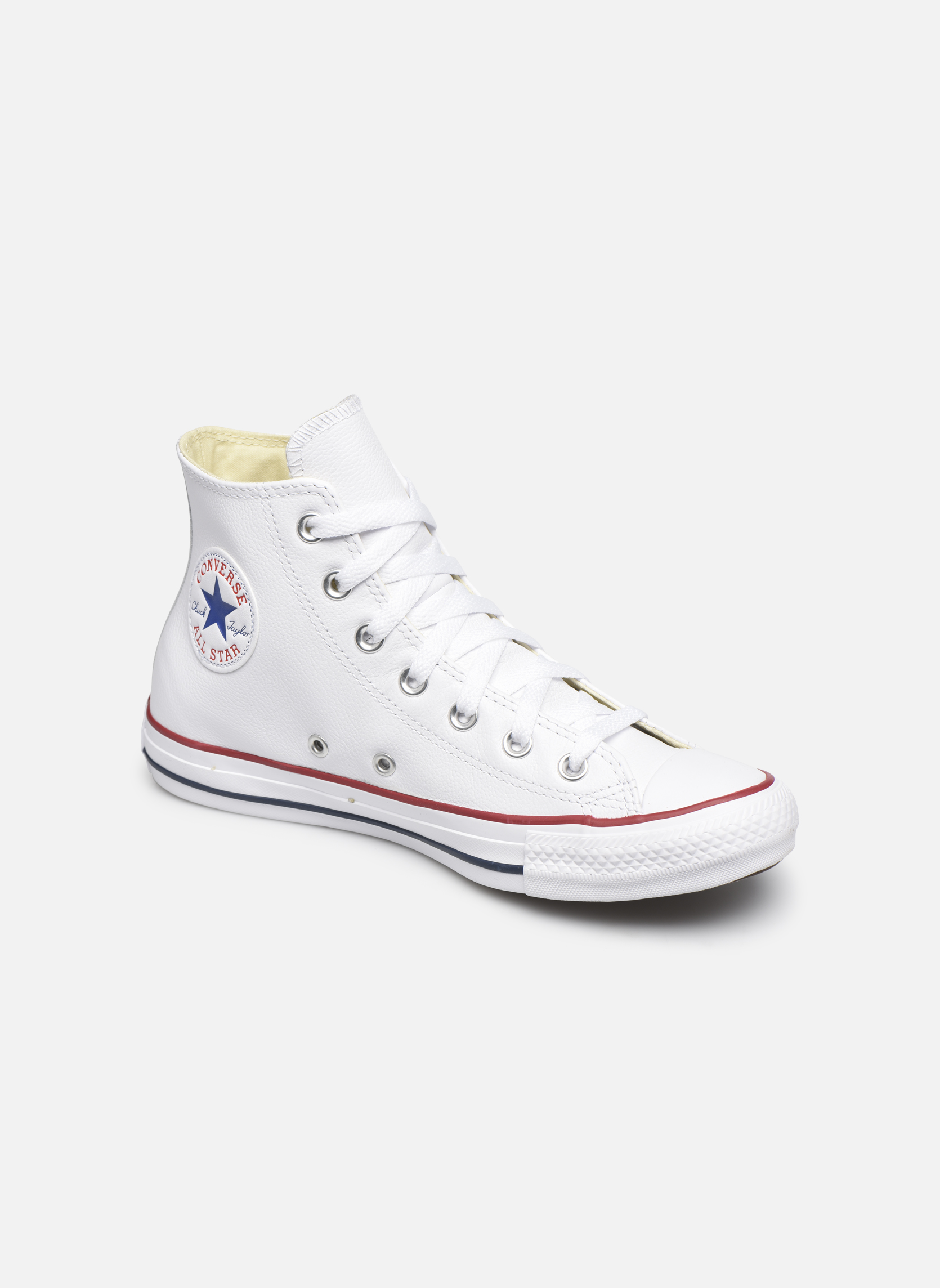 Trainers Converse Chuck Taylor All Star Leather Hi W White detailed view/ Pair view