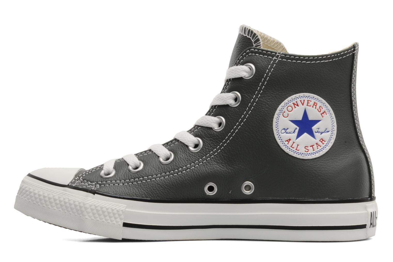 Noir Converse Chuck Taylor All Star Leather Hi W (Noir)
