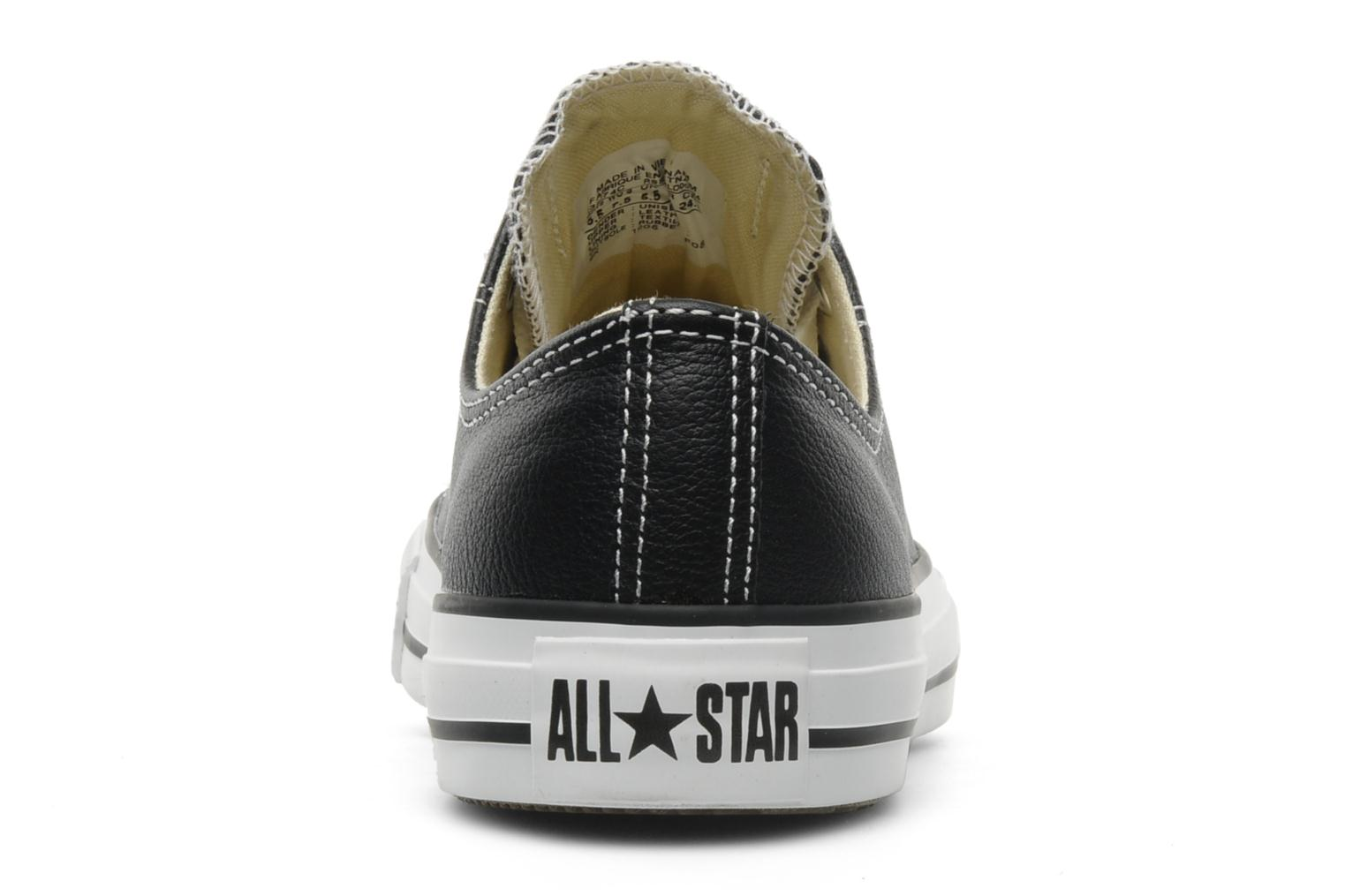 Deportivas Converse Chuck Taylor All Star Leather Ox W Negro vista lateral derecha