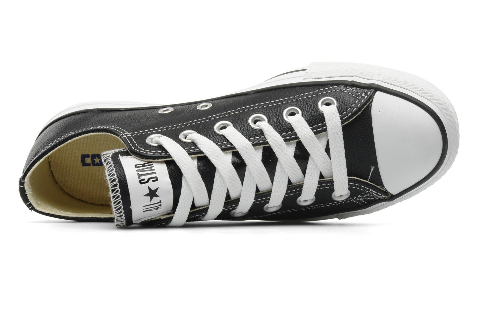 Sneakers Converse Chuck Taylor All Star Leather Ox W Nero immagine sinistra