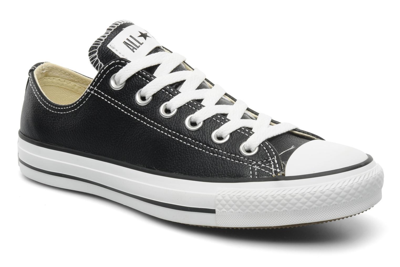 Baskets Converse Chuck Taylor All Star Leather Ox W Noir vue détail/paire