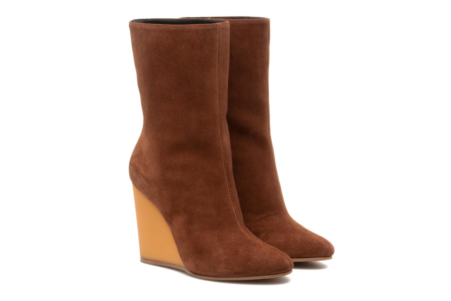 Ankle boots Vicini Nina Brown 3/4 view