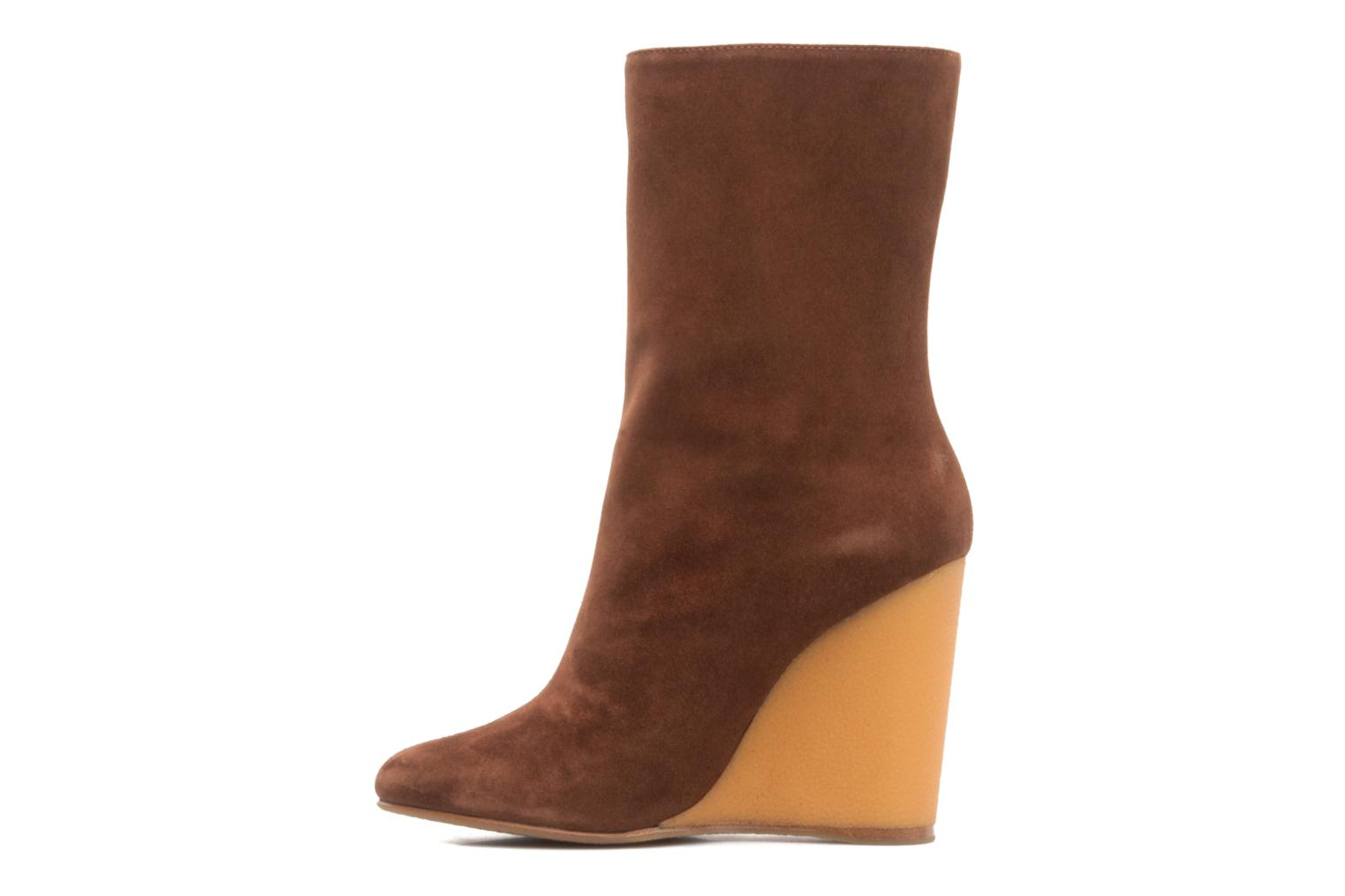 Ankle boots Vicini Nina Brown front view