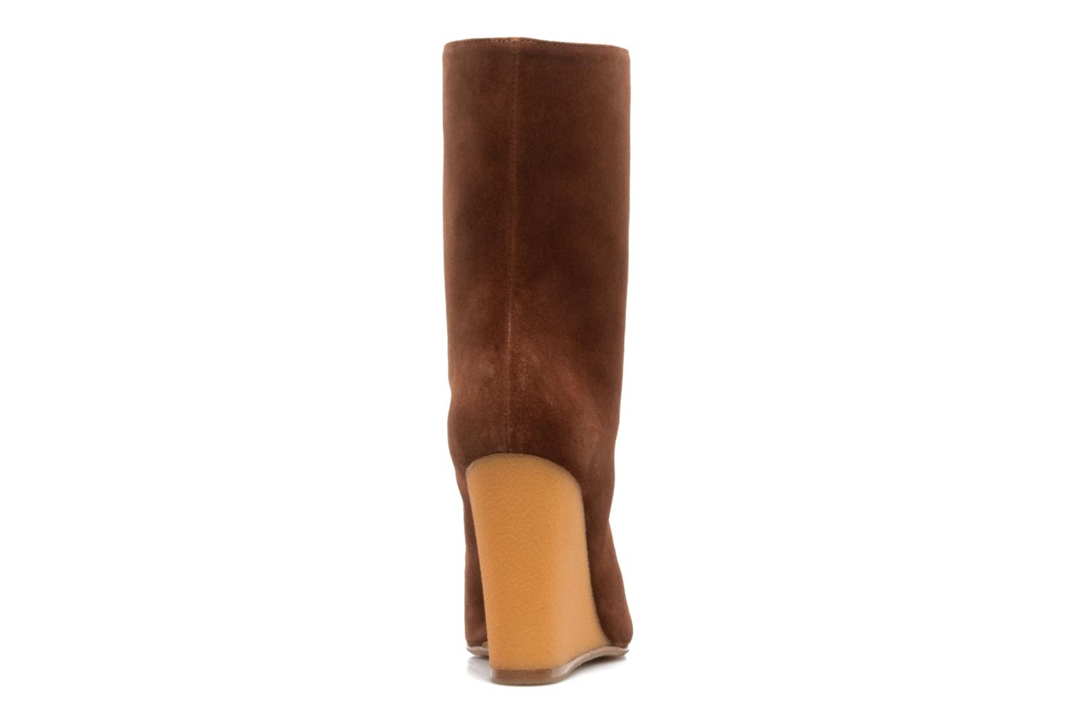 Ankle boots Vicini Nina Brown view from the right