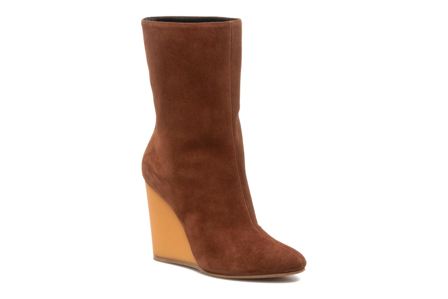 Ankle boots Vicini Nina Brown detailed view/ Pair view