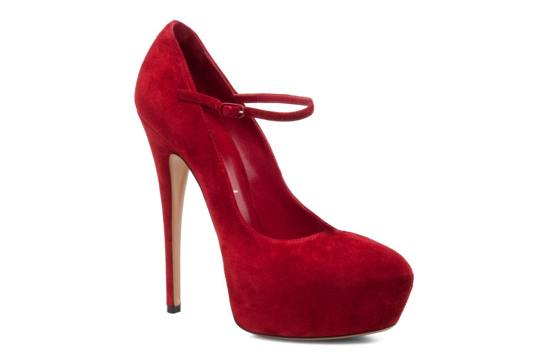 Escarpins Casadei Queensuede Rouge vue détail/paire