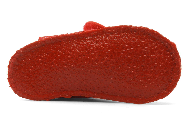 Hausschuhe Giesswein Ben rot ansicht von oben