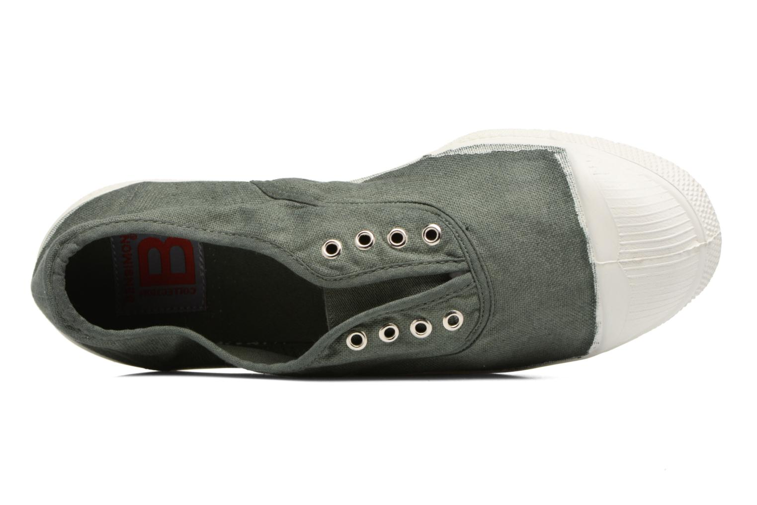 Trainers Bensimon Tennis Elly Green view from the left