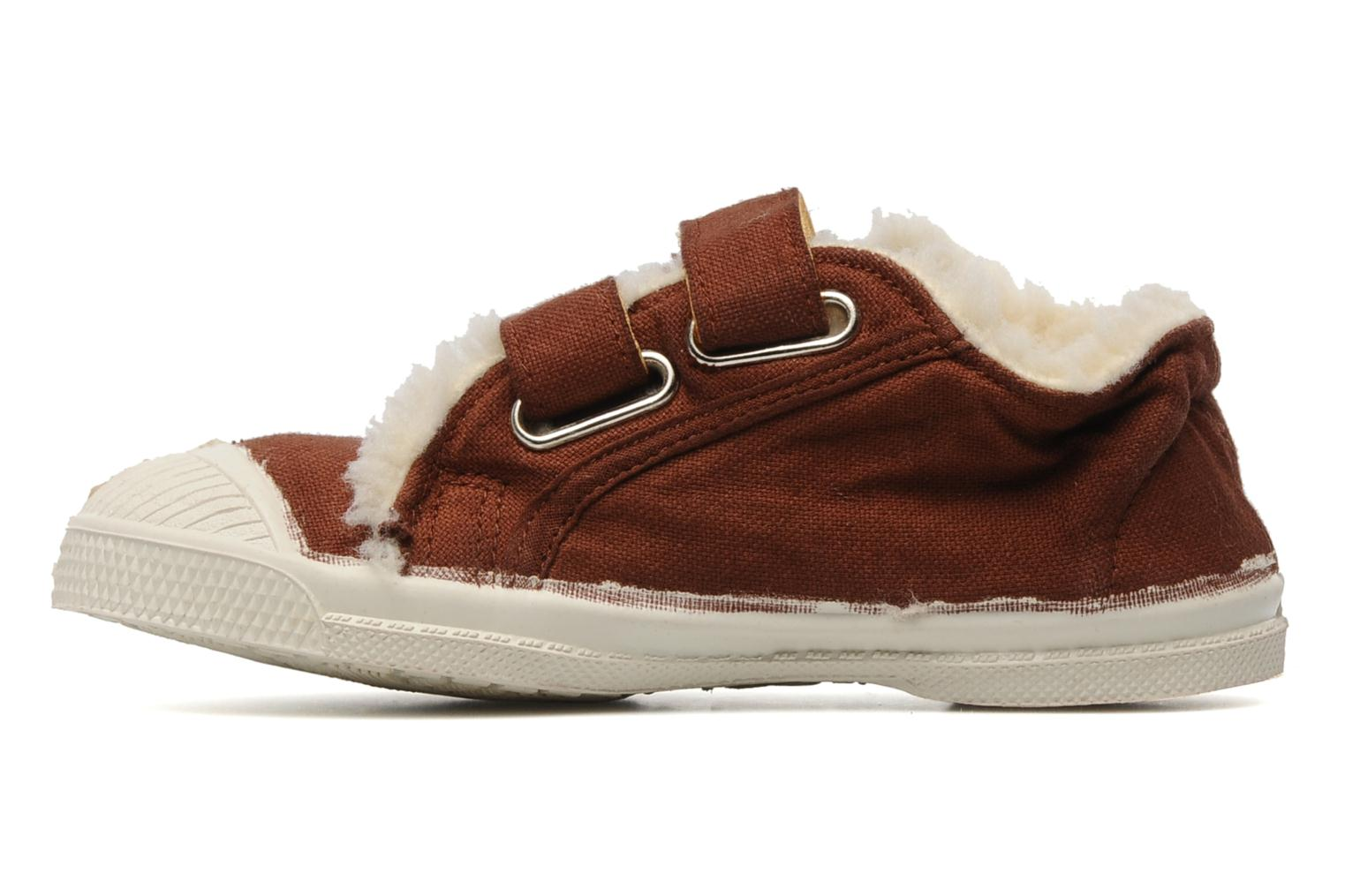 Trainers Bensimon Tennis Scratch Fourrées E Brown front view