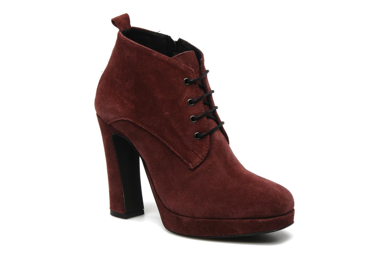 Ankelstøvler Georgia Rose Nuts Bordeaux detaljeret billede af skoene