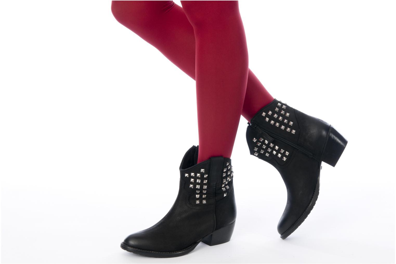 Bottines et boots Buffalo Bahar Noir vue bas / vue portée sac