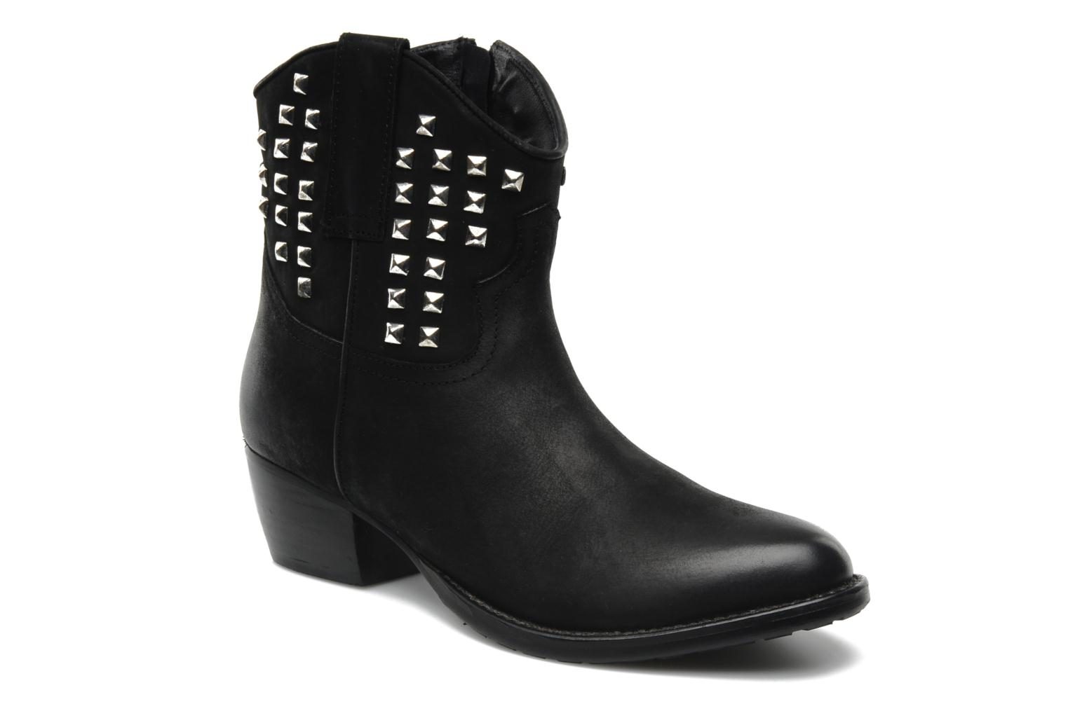 Ankle boots Buffalo Bahar Black detailed view/ Pair view