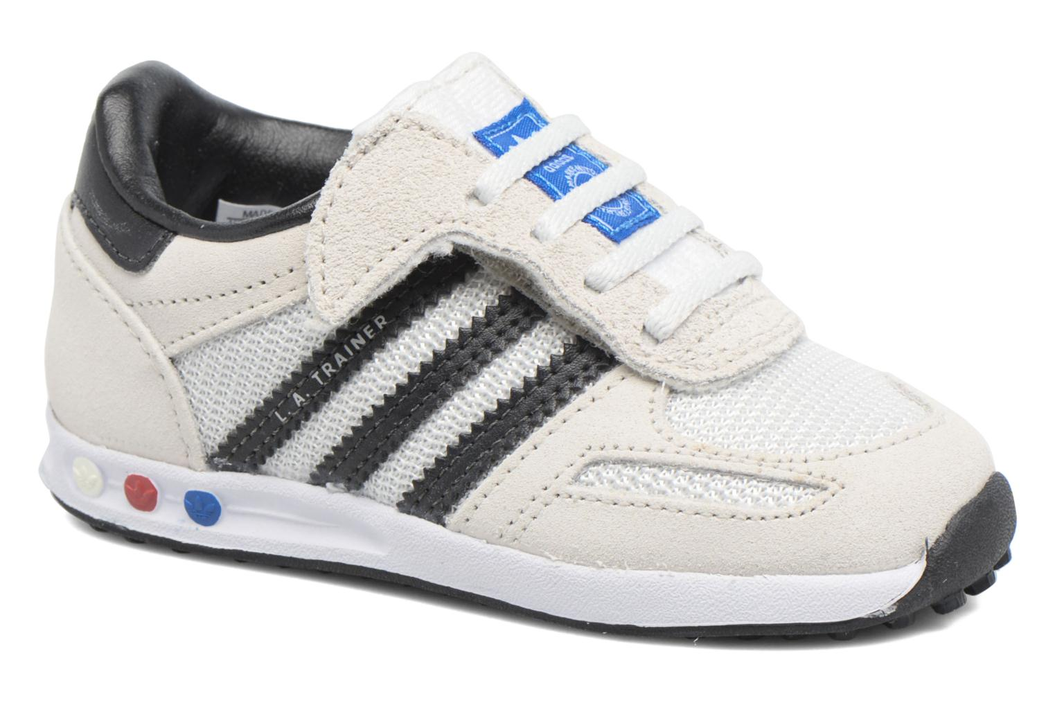 Baskets Adidas Originals LA Trainer Cf I Beige vue détail/paire