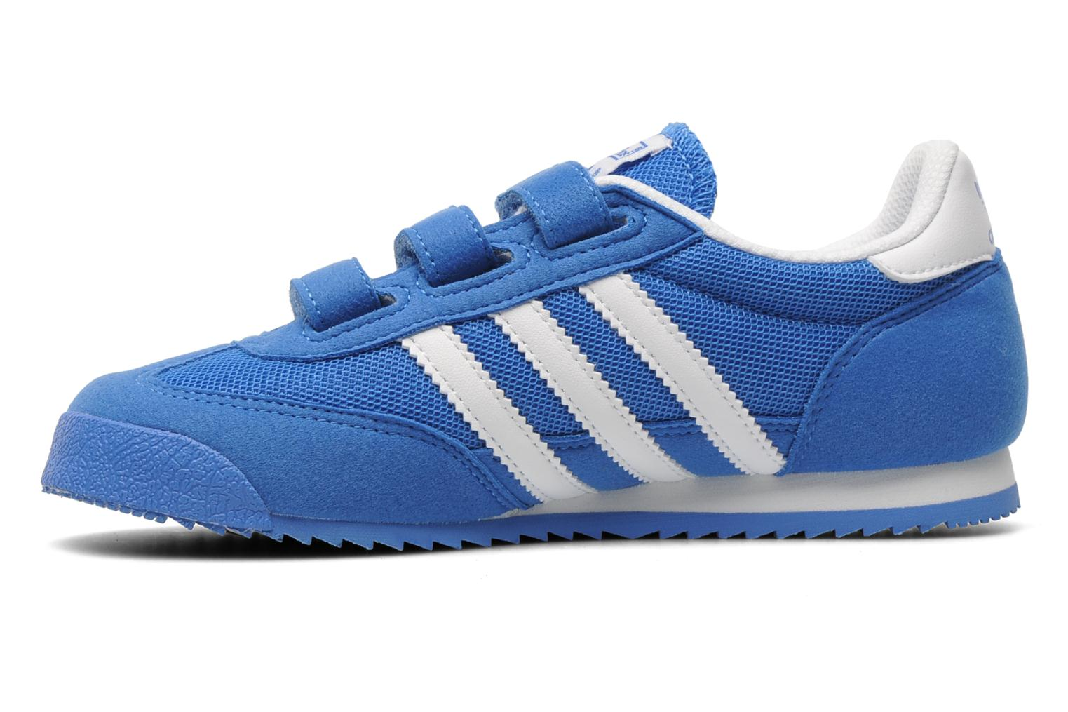 Baskets Adidas Originals Dragon Cf C Bleu vue face
