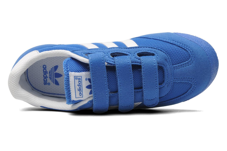 Baskets Adidas Originals Dragon Cf C Bleu vue gauche