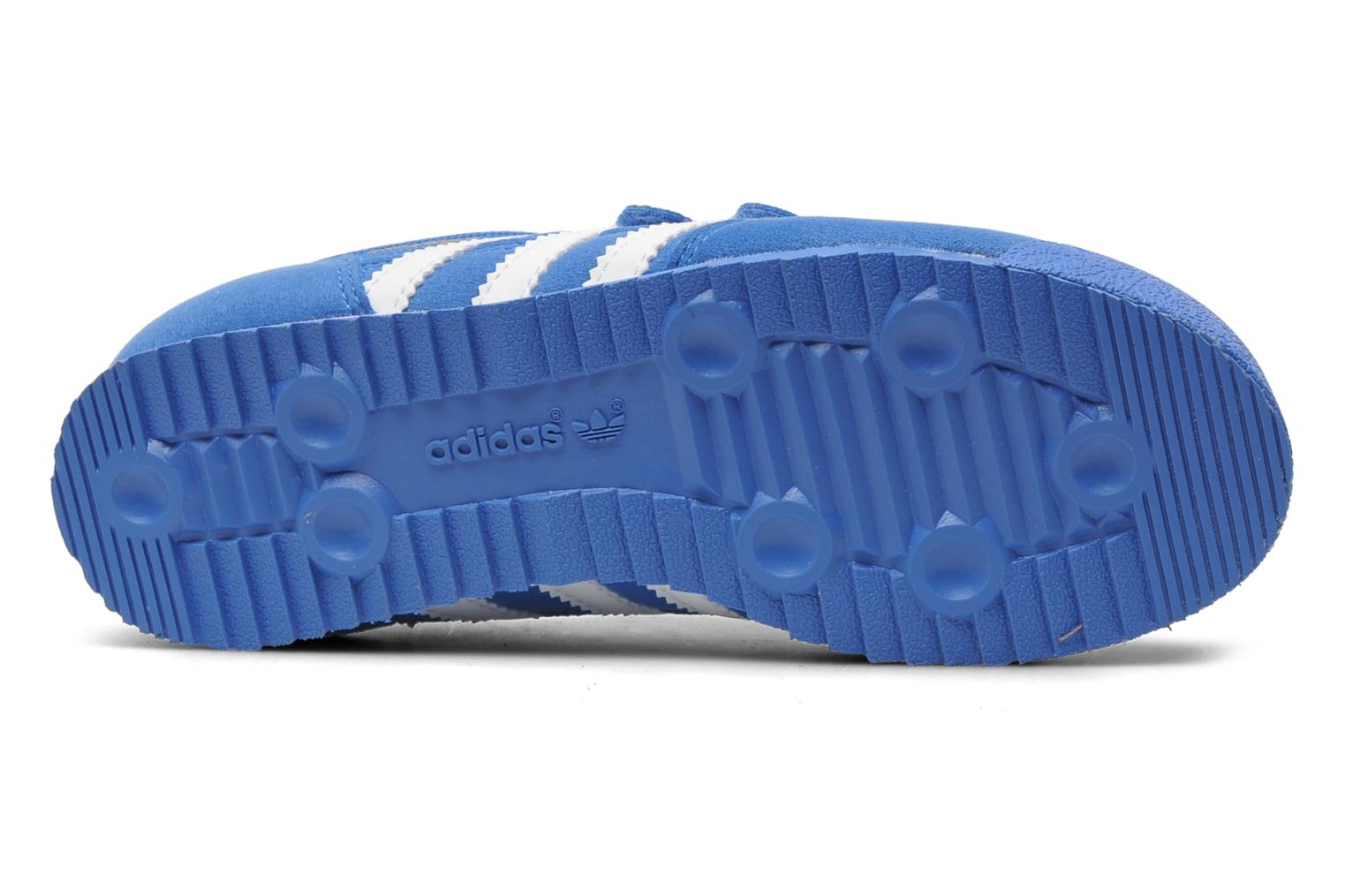 Baskets Adidas Originals Dragon Cf C Bleu vue haut
