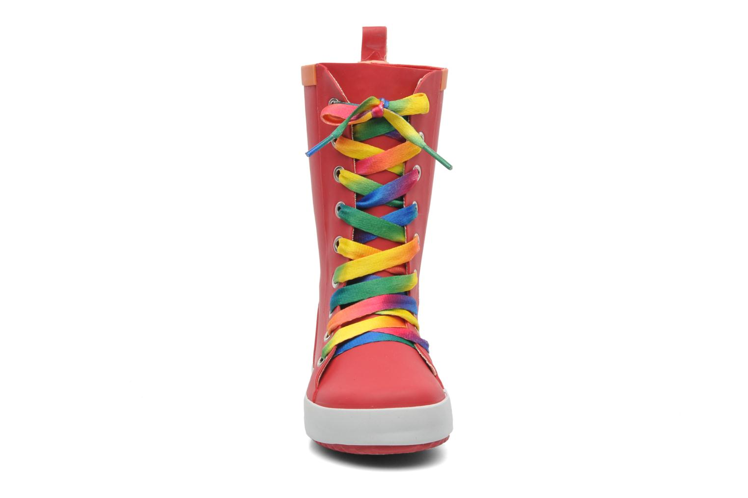 Bottes Be Only Punky Rouge vue portées chaussures